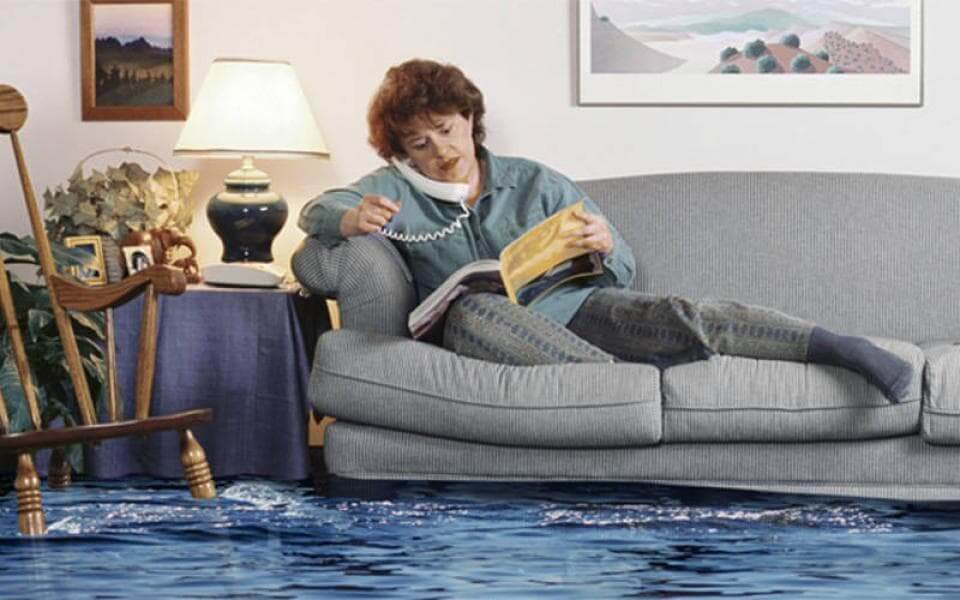 оценка ущерба от залива соседей